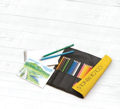 Coloured Pencils Roll Up Case 24 colour set