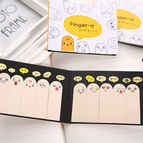 Finger sticky notes