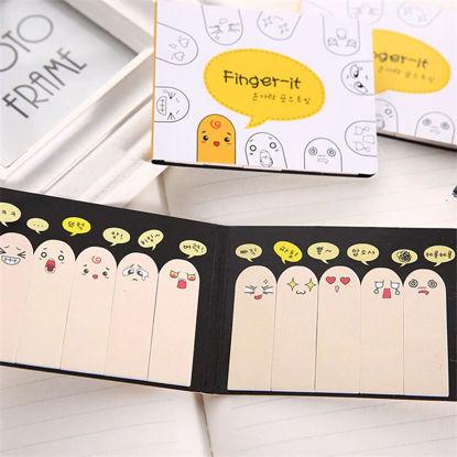 Finger sticky notes