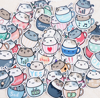 Cat in Cup Stickers