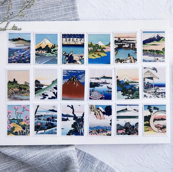 Ukiyo-e Paper Stickers