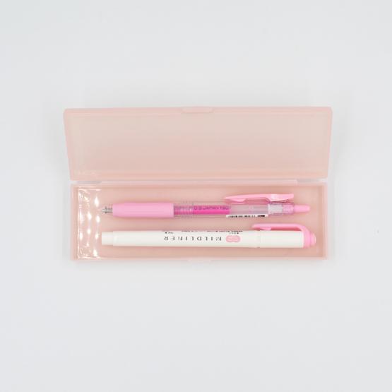 Porta-lápis transparente - rosa