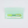 Porta-lápis transparente - verde