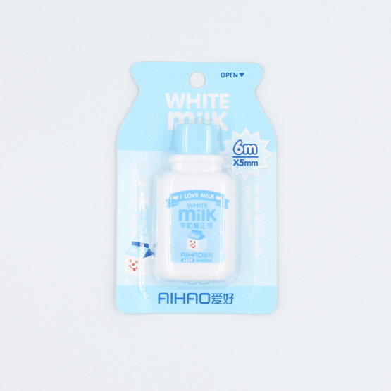 Milk Box Correction Tape - blue