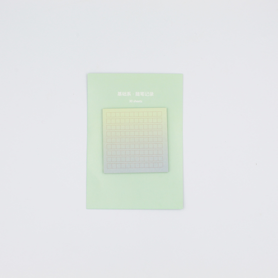 Rainbow Color Sticky Notes - verde