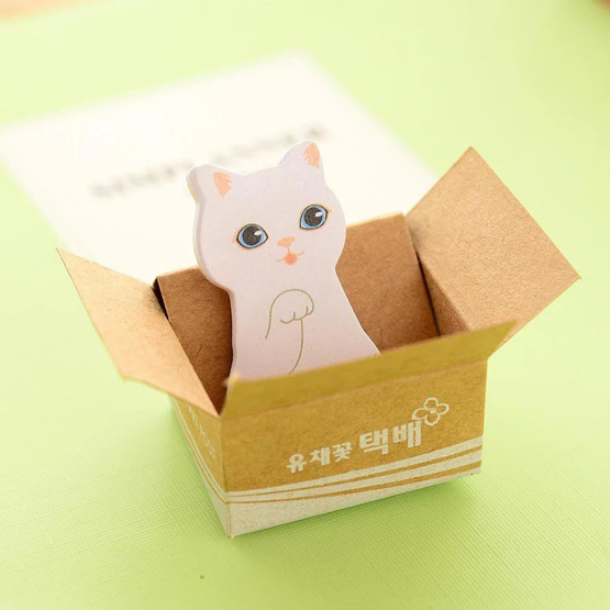 Adhesive Little Kitty Memo Pad