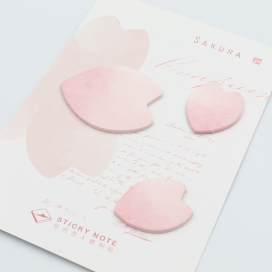 Petal Shaped Sticky Notes