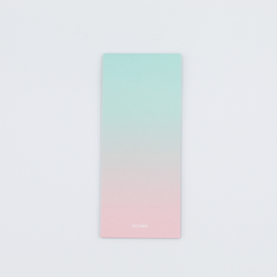 Long Ombre Sticky Note Pad - verde-agua