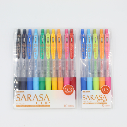 Zebra Sarasa Push Clip Gel Pen - 0.3 mm