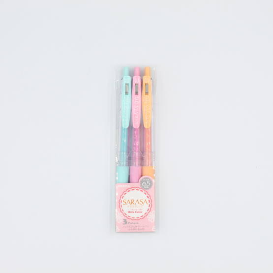 Zebra Sarasa Clip Milk Gel Pen - 0.5 mm - 3