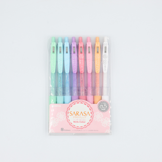 Zebra Sarasa Clip Milk Gel Pen - 0.5 mm - 8