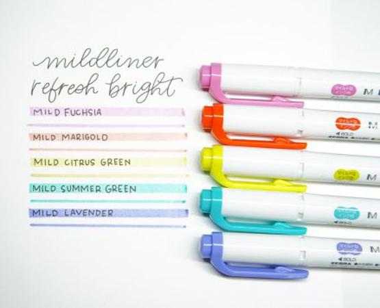 Zebra Mildliner - Conjunto Verde