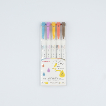 Zebra Midliner Brush Pen - Conjunto Warm