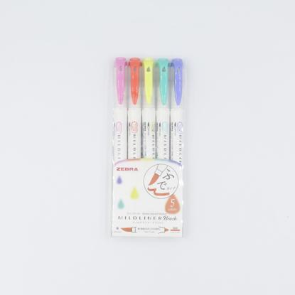 Zebra Mildliner Brush Pens - Conjunto Bright