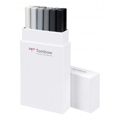 Tombow ABT Dual Brush Pen - Set 12 Graytones