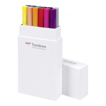 Tombow ABT Dual Brush Pen - Conjunto 12 Cores Primárias