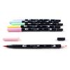 Brush Pens Tombow Dual - Conjunto 6 Pastel
