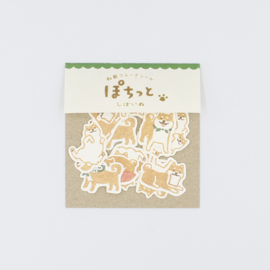 Japanese Paper Stickers - Shiba Inu